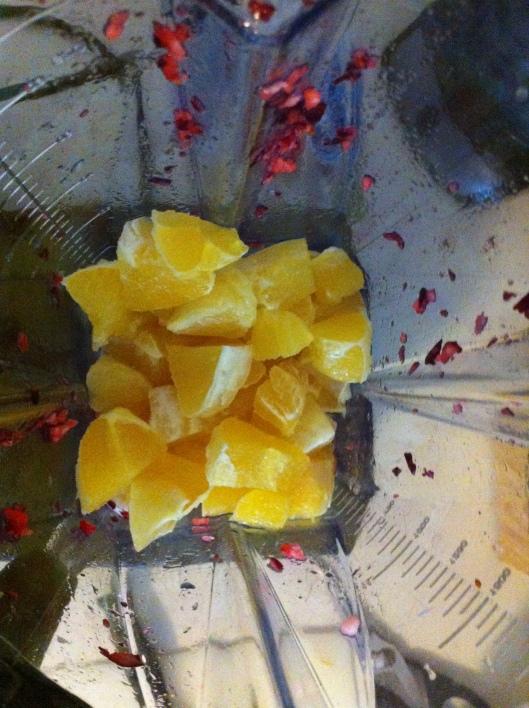chopped oranges